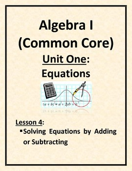 Solving Equations by Adding or Subtracting