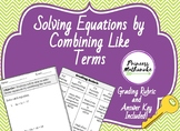 Solving Equations by Combining Like Terms