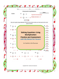 Solving Equations by Mutiplication Practice and Assessment