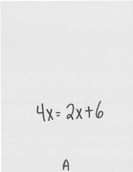Solving Equations (includes Various Solutions) Scavenger Hunt
