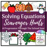 Solving Equations through the Seasons Review BUNDLE   Goog