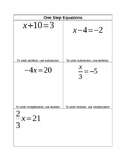 Solving Equations using Multiplication & Division Graphic Organizer