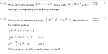 Solving Equations using Reasoning Common Core Algebra Moodle, Schoology, BB