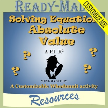 Solving Equations with Absolute Value (Scavenger Hunt)