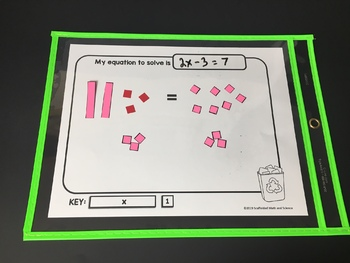 Solving Equations with Algebra Tiles Mat