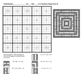 Solving Equations with Combining Like Terms Line Design Puzzle/Worksheet
