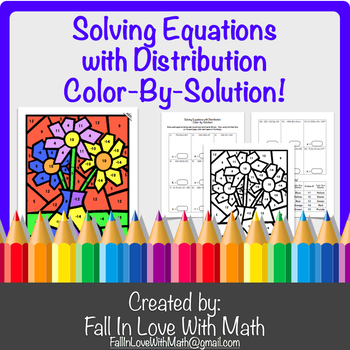 Solving Equations with Distribution Color-by-Number!