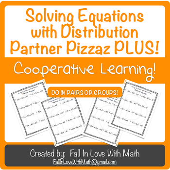 Solving Equations with Distribution Partner Pizzaz Plus!