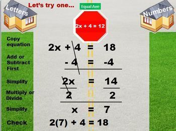 "Solving  Equations with ""Equation Estates"" BUNDLE"