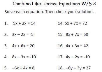 "Solving  Equations with ""Equation Estates"" BUNDLE"