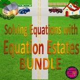 "Solving  Equations with ""Equation Estates"" BUNDLE - distan"