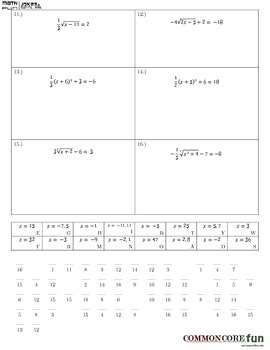 Solving Equations with Exponents and Radicals
