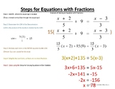 Solving Equations with Fractions (Clearing Fractions)