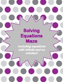 Solving Equations with Infinite Solutions and No Solution Maze