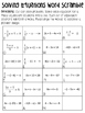 Solving Equations with Integers Word Scramble - Two Step a