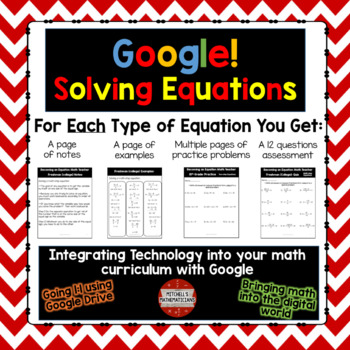 Solving Equations with Integers BUNDLE Google Drive