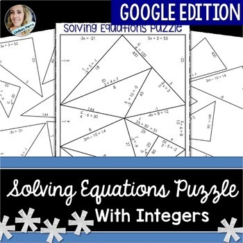 Solving Equations with Integers Puzzle - GOOGLE EDITION