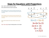 Solving Equations with Proportions