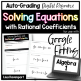 Solving Equations with Rational Coefficients- for use with Google Forms