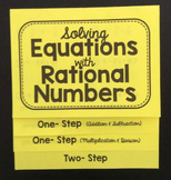 Solving Equations with Rational Numbers (Foldable)