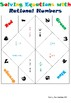 Solving Equations with Rational Numbers Cootie Catcher (Fortune Teller)