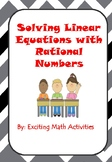 Solving Equations with Rational Numbers Cootie Catcher (Fo