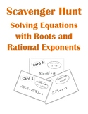 Solving Equations with Radicals and Rational Exponents Scavenger Hunt Activity