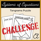 Solving Equations with Substitution Tangram Activity A (Challenge)