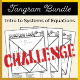Solving Equations with Substitution Tangrams Activity Bundle (Challenge)