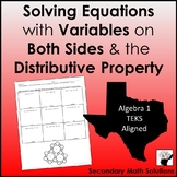 Variables on Both Sides & Distributive Property Coloring Activity (A5A)