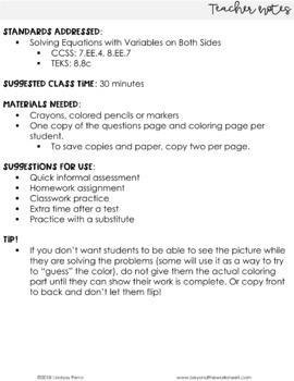 fun one step equation pdf