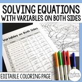 Solving Equations with Variables on Both Sides Activity