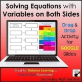 Solving Equations with Variables on Both Sides Digital Drag & Drop Activity