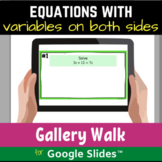Solving Equations with Variables on Both Sides Distance Le