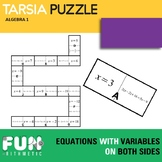 Solving Equations with Variables on Both Sides Tarsia Puzzle