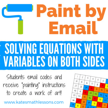 Solving Equations with Variables on Both Sides Fun Activity - Paint by Email