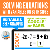 Solving Equations with Variables on Both Sides Digital Activity for Google Drive