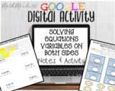 Solving Equations with Variables on Both Sides - Google Sl