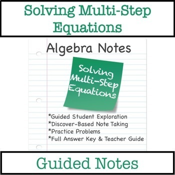 Solving Equations with Variables on Both Sides - Guided Notes by ...