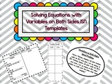 Solving Equations with Variables on Both Sides ISN Templates