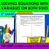 Solving Equations with Variables on Both Sides Notes