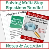 Solving Equations with Variables on Both Sides Notes & Activity Bundle!!