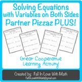 Solving Equations with Variables on Both Sides Partner Pizzaz PLUS!