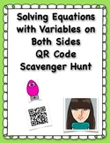 Solving Equations with Variables on Both Sides QR Code Scavenger Hunt
