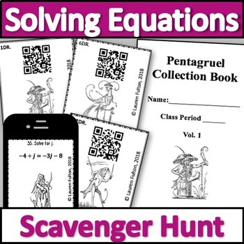 Solving Equations with Variables on Both Sides Scavenger Hunt Activity