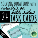 Solving Equations with Variables on Both Sides (TASK CARDS)