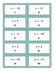 Solving Equations with Variables on One Side - Matching Activity