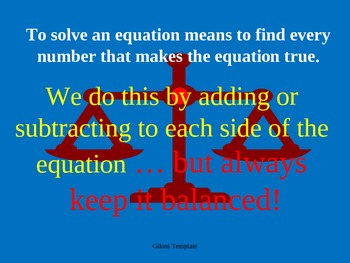 Solving Equations with Visuals Common Core
