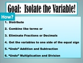Solving Equations with a Variable on Both Sides of the Equ