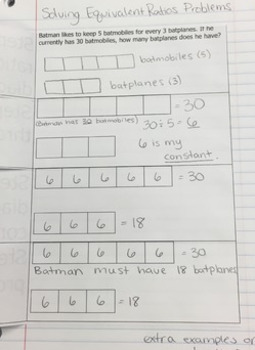 Solving Equivalent Ratio Problems with Tape Diagrams Foldable AND Homework